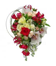 Букет невесты каскадный_22