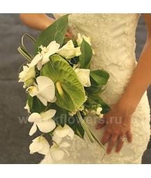 Букет невесты каскадный_25