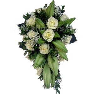 Букет невесты каскадный 27