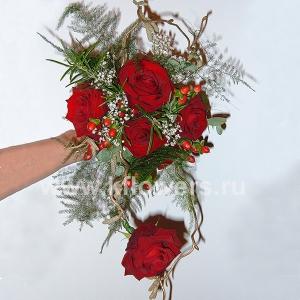 Букет невесты каскадный 30
