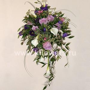 Букет невесты каскадный 32