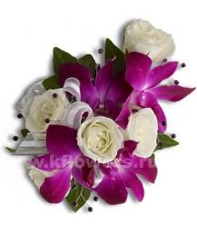 Браслет из цветов_10