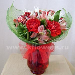 Букет цветов новогодний 13