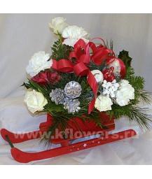 Композиция цветов новогодняя 23