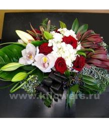 Композиция цветов новогодняя 28