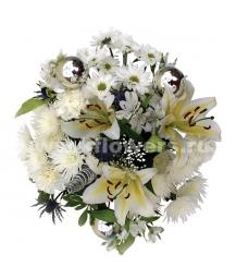 Букет цветов новогодний 14