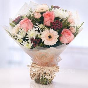 Букет цветов африканский 12