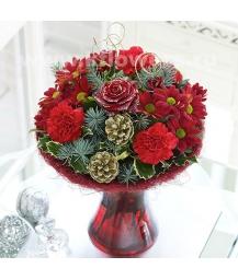 Букет цветов новогодний 15