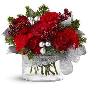 Букет цветов новогодний 22