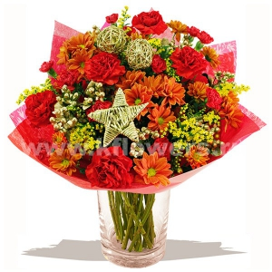 Букет цветов новогодний 28