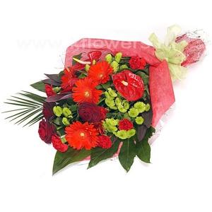 Букет цветов африканский 14