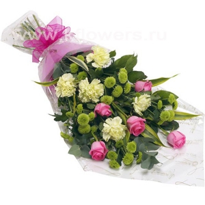 Букет цветов африканский 19