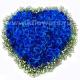 Композиция цветов сердце 27