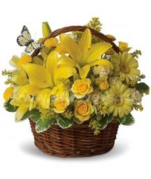 Корзина цветов 29