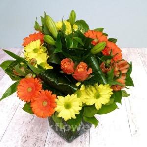 Букет цветов европейский 11