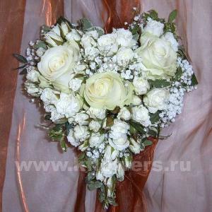 Букет невесты каскадный 34