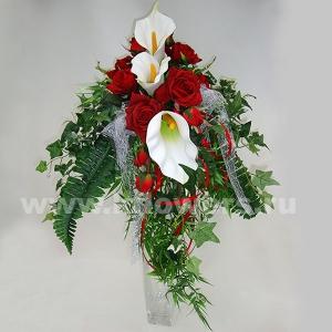 Букет невесты каскадный 36