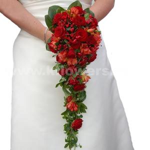 Букет невесты каскадный 38