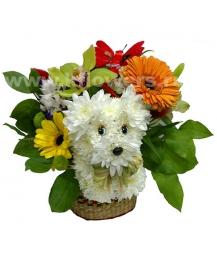 щенки из цветов (20см)