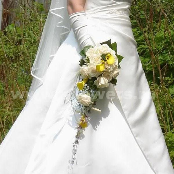Букет невесты каскадный 43