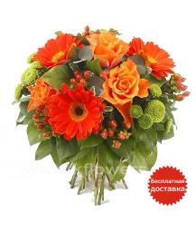 Букет цветов европейский 17