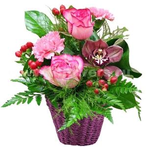 Корзина цветов 30
