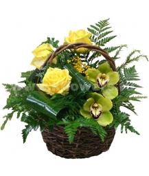 Корзина цветов 31