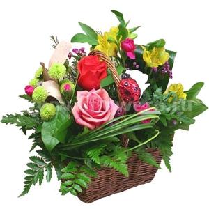 Корзина цветов 32