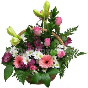 Корзина цветов 33