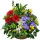 Корзина цветов 34