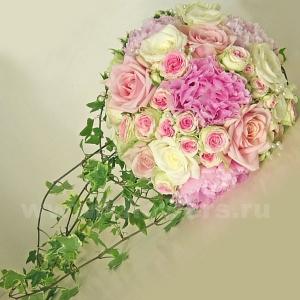 Букет невесты каскадный 48