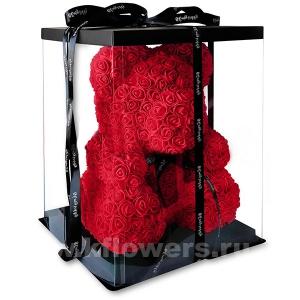 Мишка из 3D роз (40см)