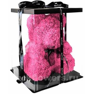 Мишка из 3D роз (25см)