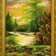 Картина из крошки змеевика 15