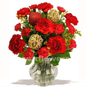 Букет цветов новогодний 16
