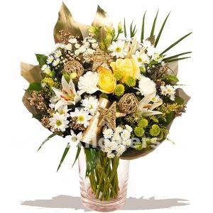 Букет цветов новогодний 27