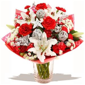 Букет цветов новогодний 25