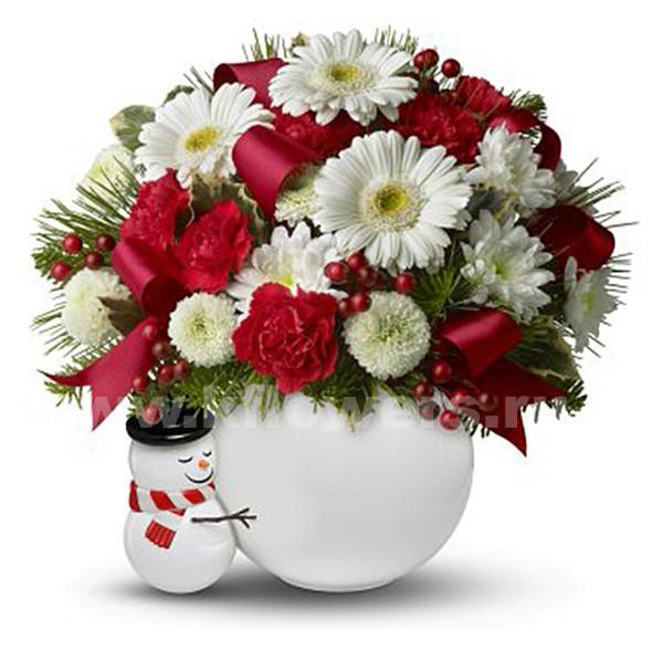 букеты на новый год из цветов
