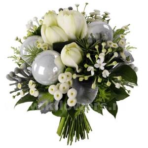 Букет цветов новогодний 31