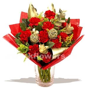 Букет цветов новогодний 23