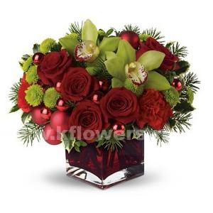 Букет цветов новогодний 20