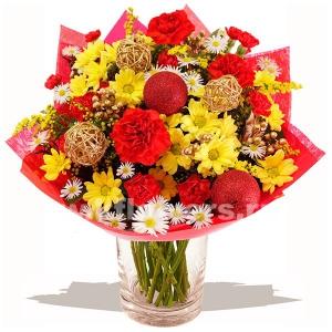 Букет цветов новогодний 26