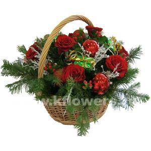 Композиция цветов новогодняя 31