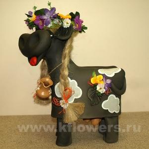 Фигурка корова-колокольчик