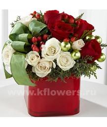 Букет цветов новогодний 12