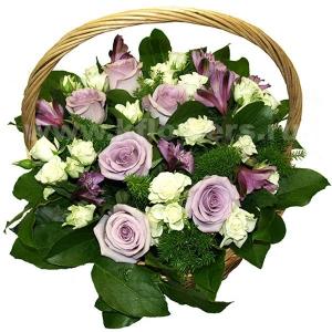 Корзина цветов 36
