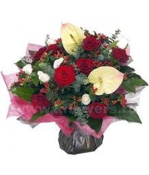 Букет цветов африканский 26