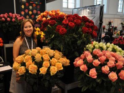 Представитель Батиан -Мария на московской выставке цветов