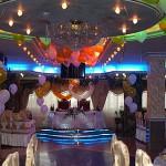 Приморский стиль оформления свадьбы в ресторане Каспий