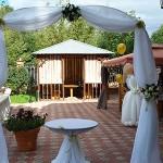 Оформление ресторана Оазис для романтичного свадебного торжества